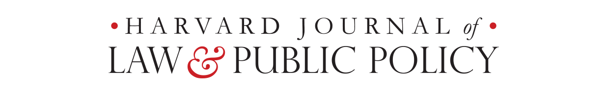 Logo for the Harvard Journal of Law and Public Policy
