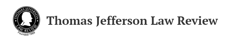 Thomas Jefferson Law Review logo