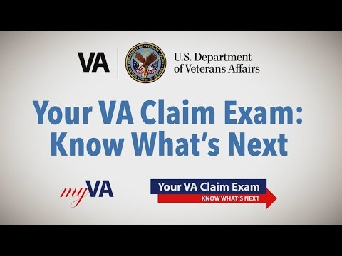 Image of a VBA video about VA claim exams.