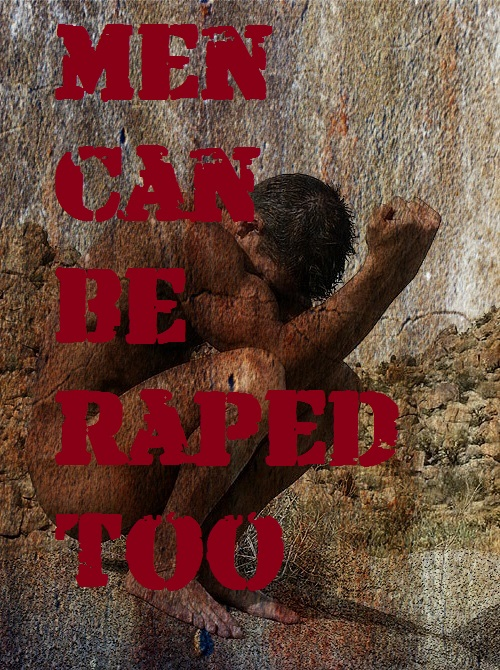 Men Can Be Raped Too - digital art by