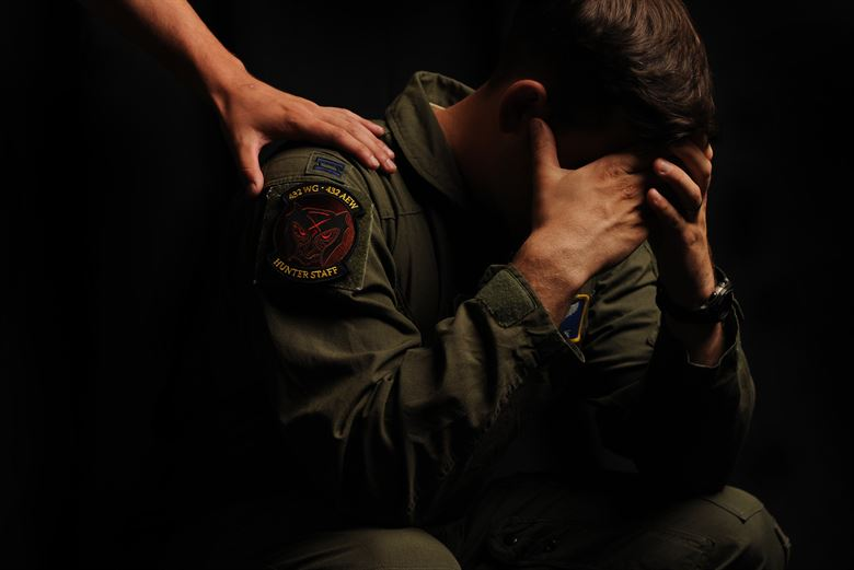 U.S. Airman in distress