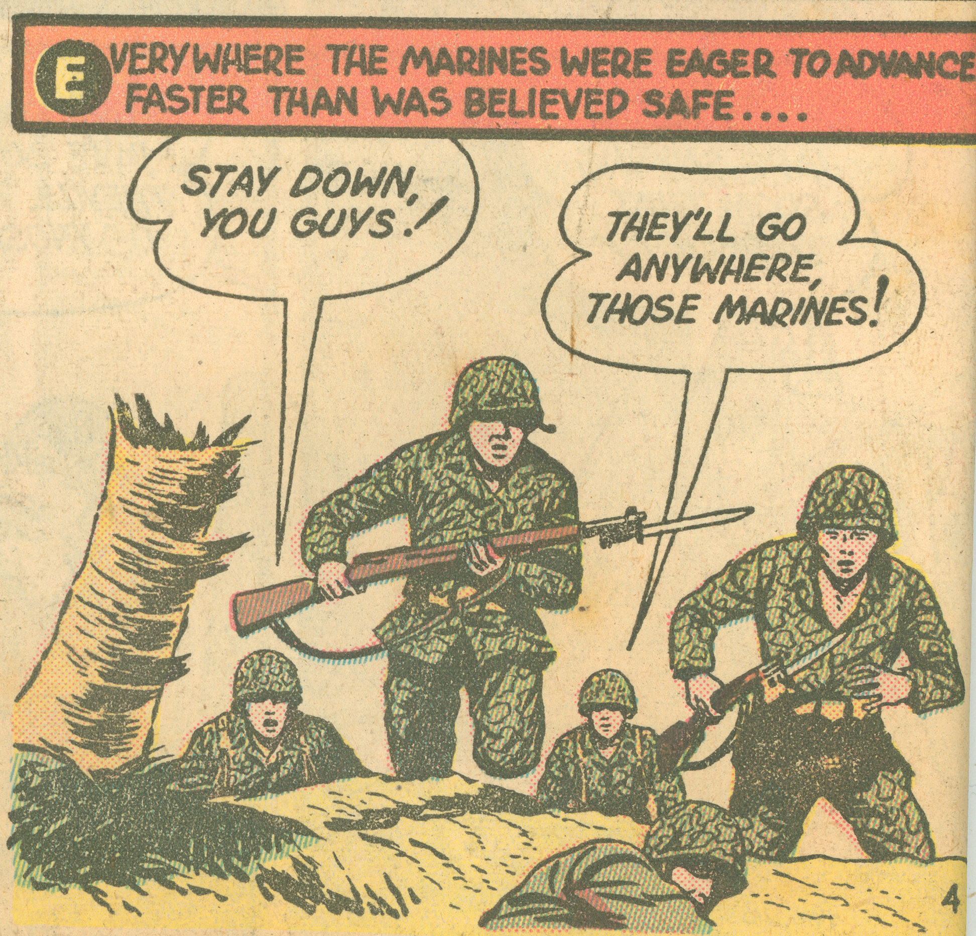 Panel from 1943 comic book