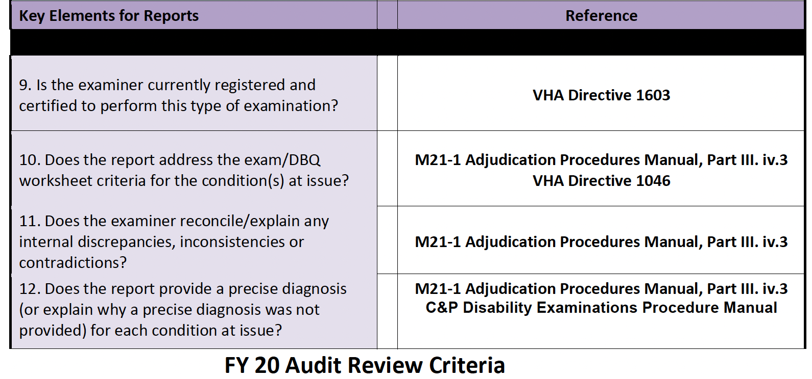 FY20 Audit Review Tool screen shot questions 9-12