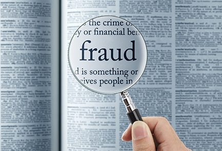 fraud - image of dictionary